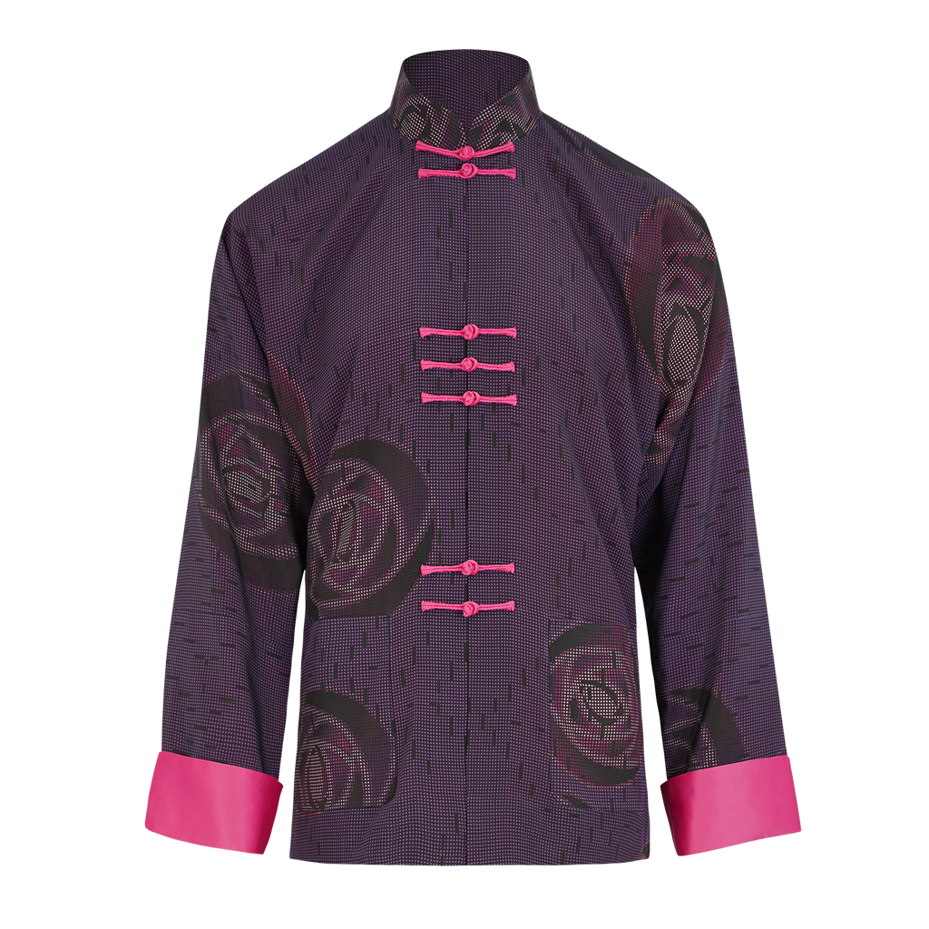 【ROSE】100% Silk Tang Jacket - THE SPARKLE COLLECTION by GERMAN POOL