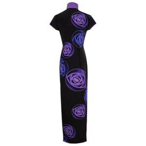 【ROSE】100% Silk Crystal Cheongsam - THE SPARKLE COLLECTION by GERMAN POOL