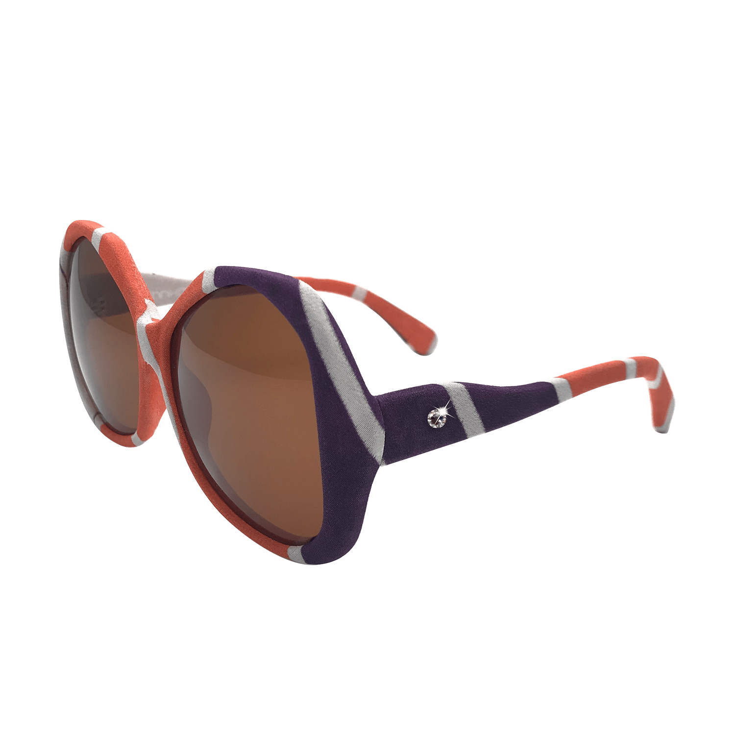 【CONTOUR】Hand-made 100% Silk-wrapped Sunglasses UV400 - THE SPARKLE COLLECTION by GERMAN POOL
