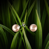 【PEARL】 925 Sterling Silver Earrings with Swarovski® Crystal Pearls - Gold