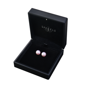 【PEARL】925 Sterling Silver Earrings with Crystal Pearls (12mm)