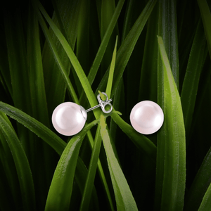【PEARL】925 Sterling Silver Earrings with Crystal Pearls (10mm) - THE SPARKLE COLLECTION by GERMAN POOL