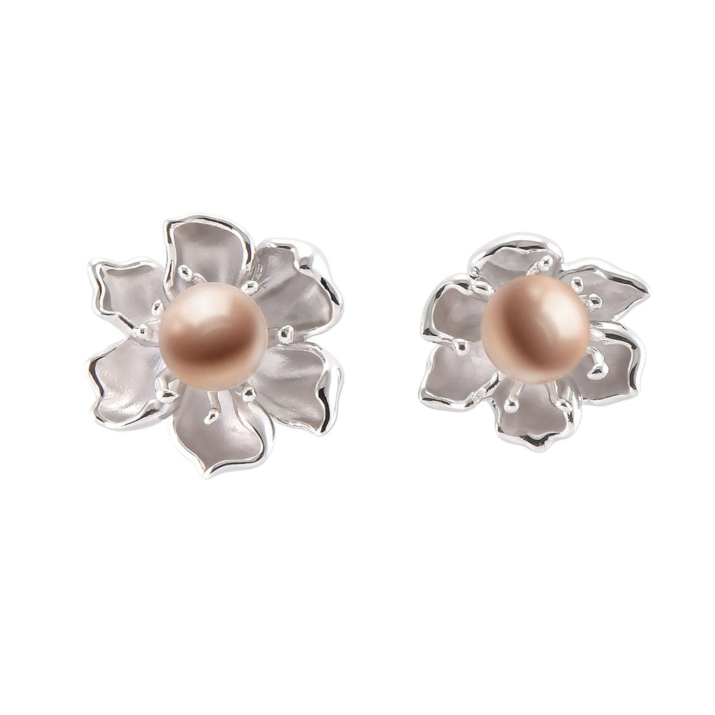 【PEONY】925 Sterling Silver Earrings with Crystal Pearls