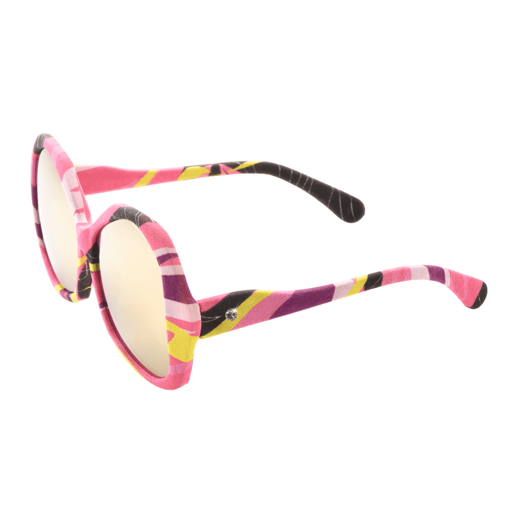 【BAUHINIA】Hand-made 100% Silk-wrapped Sunglasses with Crystals UV400