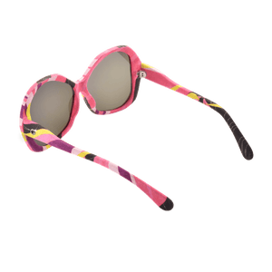 【BAUHINIA】Hand-made 100% Silk-wrapped Sunglasses with Crystals UV400 - THE SPARKLE COLLECTION by GERMAN POOL