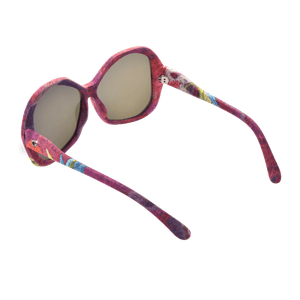 【PEONY】Hand-made 100% Silk-wrapped Sunglasses with Crystals UV400