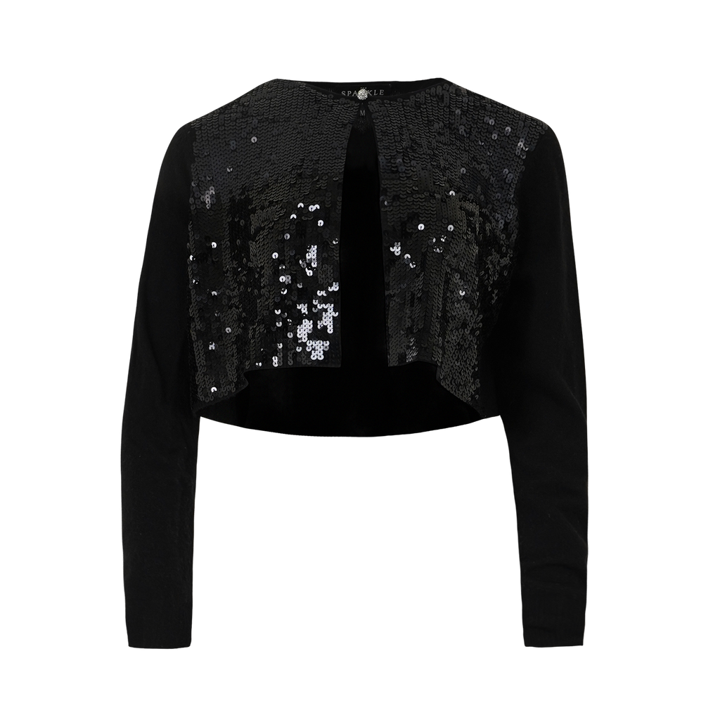 【FESTIVE】100% Cashmere Cardigan with Sequins - THE SPARKLE COLLECTION by GERMAN POOL