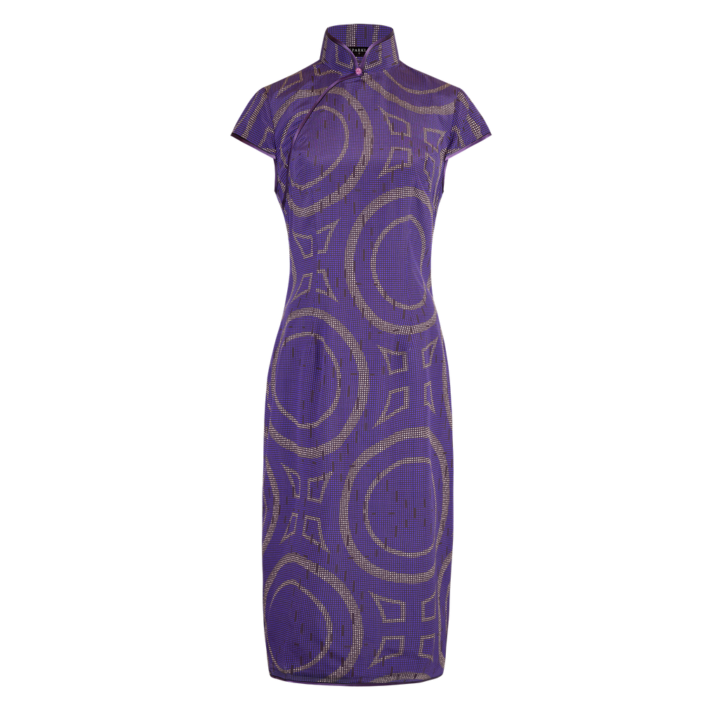 【PROSPERITY】100% Silk Cheongsam (Cap Sleeve / Regular Fit) - THE SPARKLE COLLECTION by GERMAN POOL