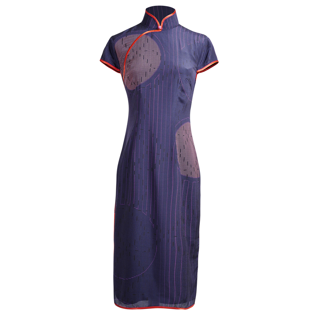 【PEARL OF HK】100% Silk Cheongsam (Cap Sleeve / Regular Fit) - THE SPARKLE COLLECTION by GERMAN POOL