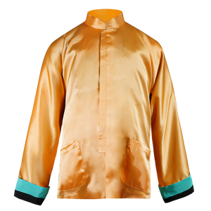 【MODULOR】100% Silk Reversible Mini Tang Jacket - THE SPARKLE COLLECTION by GERMAN POOL