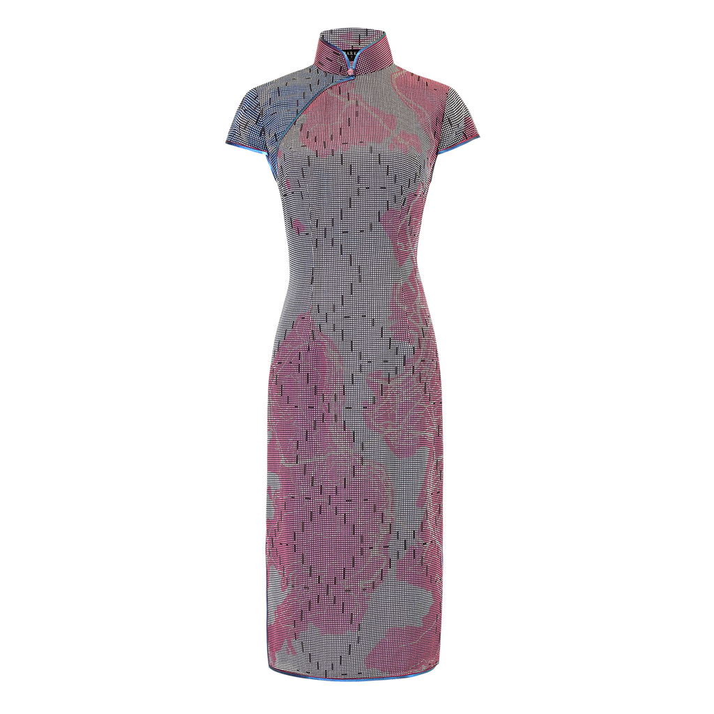 【MAP OF HK】100% Silk Cheongsam - Mesh Version (Cap Sleeve / Regular Fit)