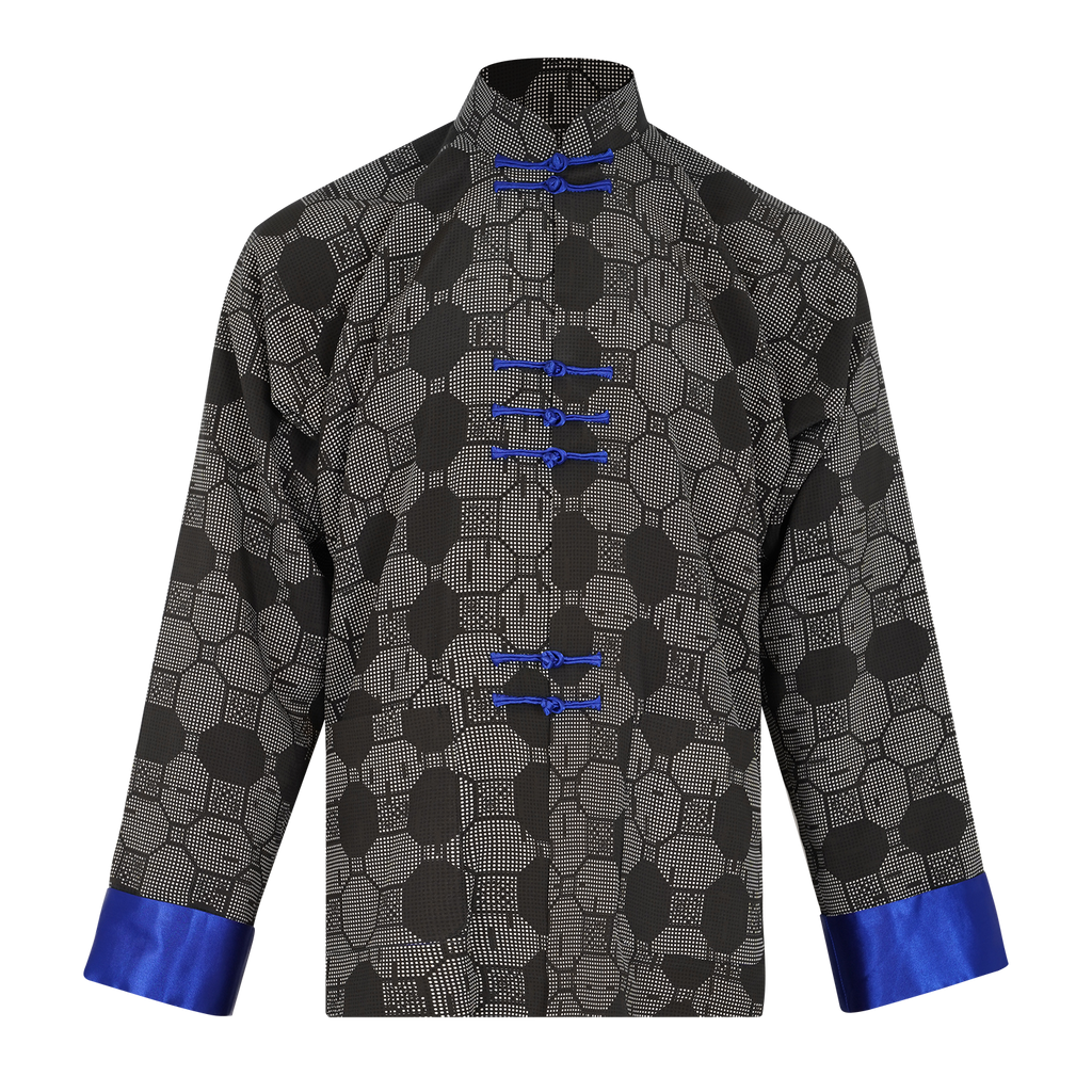 【TILE】100% Silk Tang Jacket - THE SPARKLE COLLECTION by GERMAN POOL