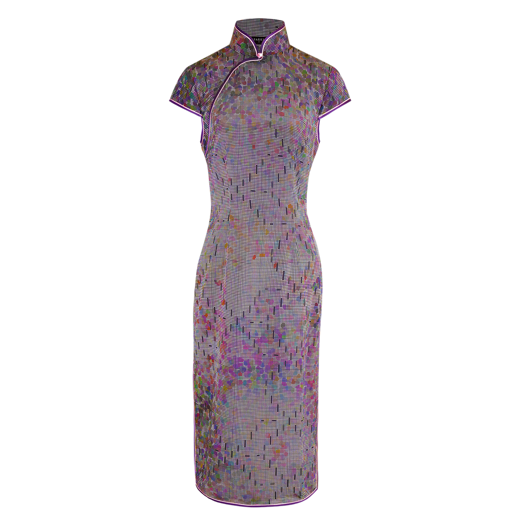 【GARDEN】100% Silk Cheongsam (Cap Sleeve / Regular Fit) - THE SPARKLE COLLECTION by GERMAN POOL
