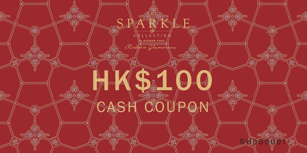 THE SPARKLE COLLECTION CASH COUPON $100 - THE SPARKLE COLLECTION by GERMAN POOL
