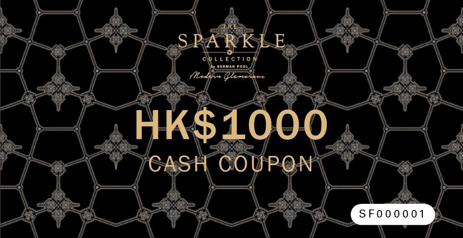THE SPARKLE COLLECTION CASH COUPON $1000 - THE SPARKLE COLLECTION by GERMAN POOL
