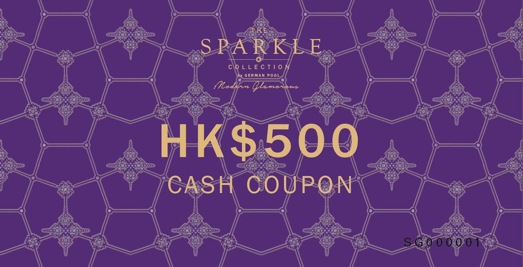 THE SPARKLE COLLECTION CASH COUPON $500 - THE SPARKLE COLLECTION by GERMAN POOL