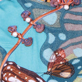 【BUTTERFLY】100% Silk Qipao with Swarovski® Crystals - Blue