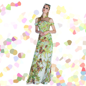 【GARDEN】Huate Couture 100% Silk Crystal Evening Gown - THE SPARKLE COLLECTION by GERMAN POOL
