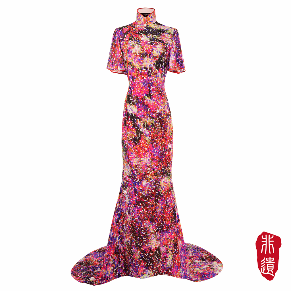 【GARDEN】Masterpiece Collection Haute Couture 100% Silk Cheongsam - THE SPARKLE COLLECTION by GERMAN POOL