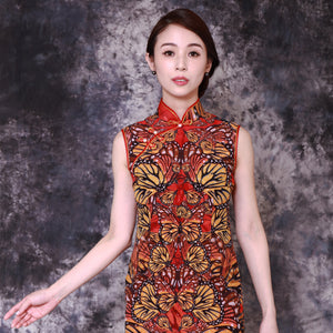 【BUTTERFLY】100% Silk Crystal Qipao