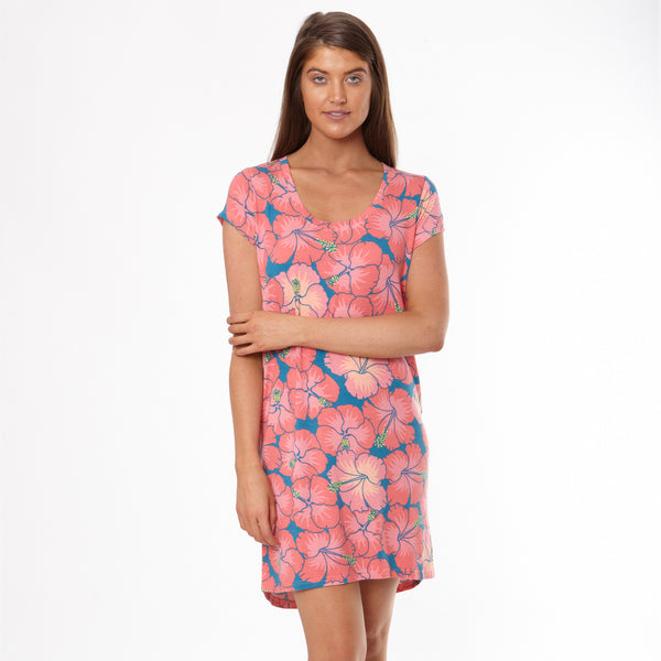 Women's Hibiscus Tee Shirt Nightie