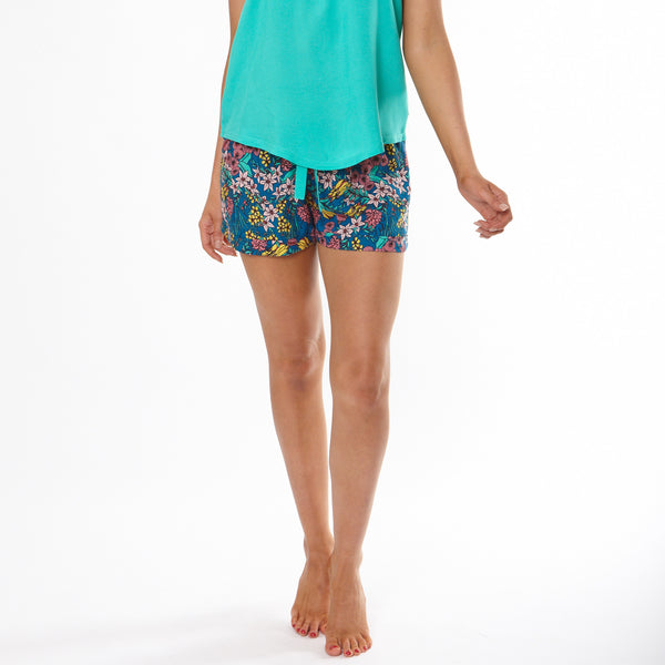 Women's Bush Posie Turn Up Pyjama Shorts