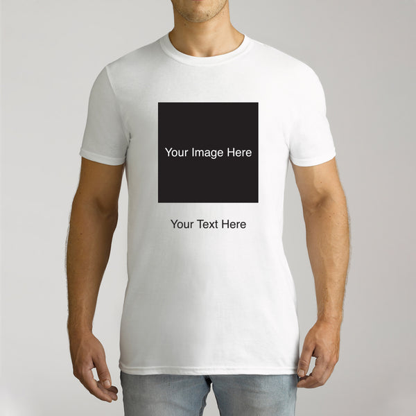 Men's Personalised Photo Short Sleeve T-Shirt