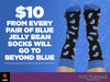Men's Blue Jelly Bean Socks