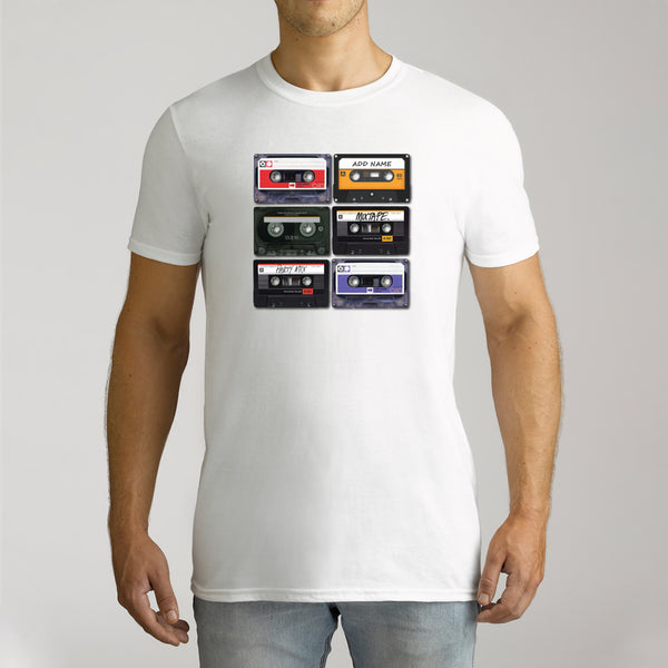Men's Personalised Cassette Short Sleeve T-Shirt