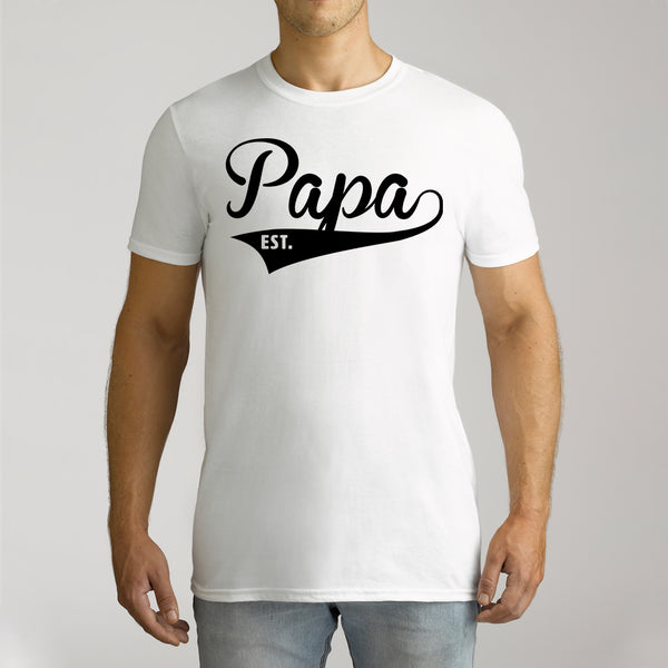 Men's Personalised Papa Short Sleeve T-Shirt