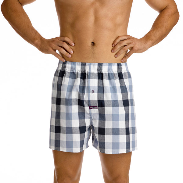 Pickett Check Soft Wash Yarn Dye Boxer - White