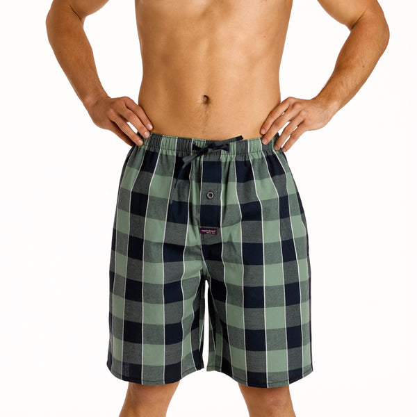 Men's Wyatt Check Yarn Dyed Pyjama Shorts