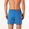 Men's Blue Diamond Bamboo Printed Woven Boxer