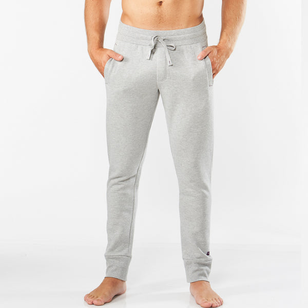 Men's Long Leg Cotton Rich Lounge Jogger - Grey Marle