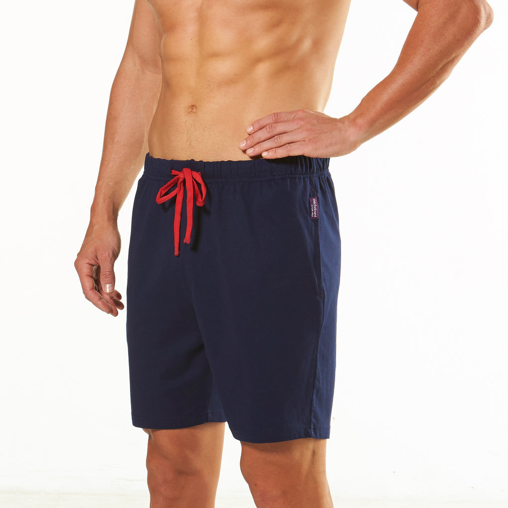 Men's Knit Pyjama Shorts - Navy