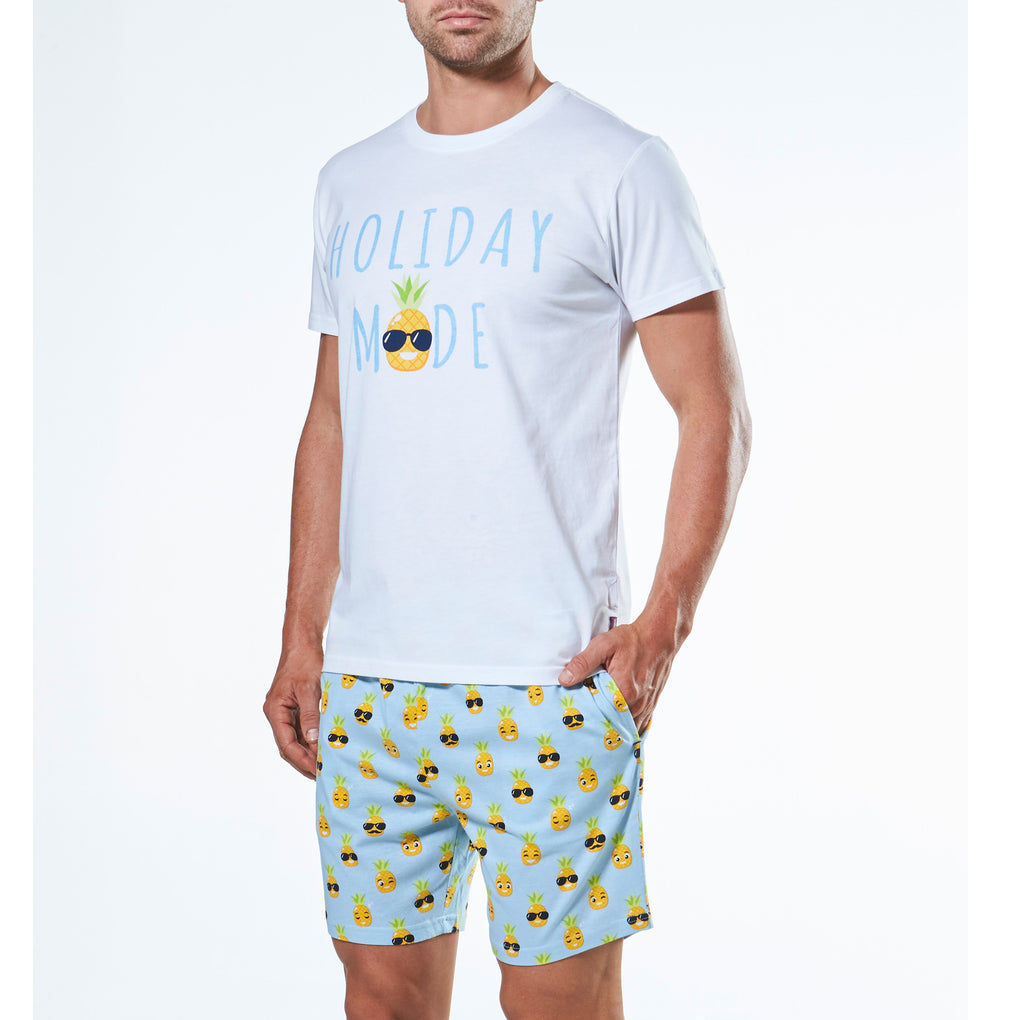 Men's Pineapple Emoji Knit Pyjama Set