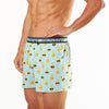 Men's Holiday Pineapple Loose Fit Knit Boxer Short