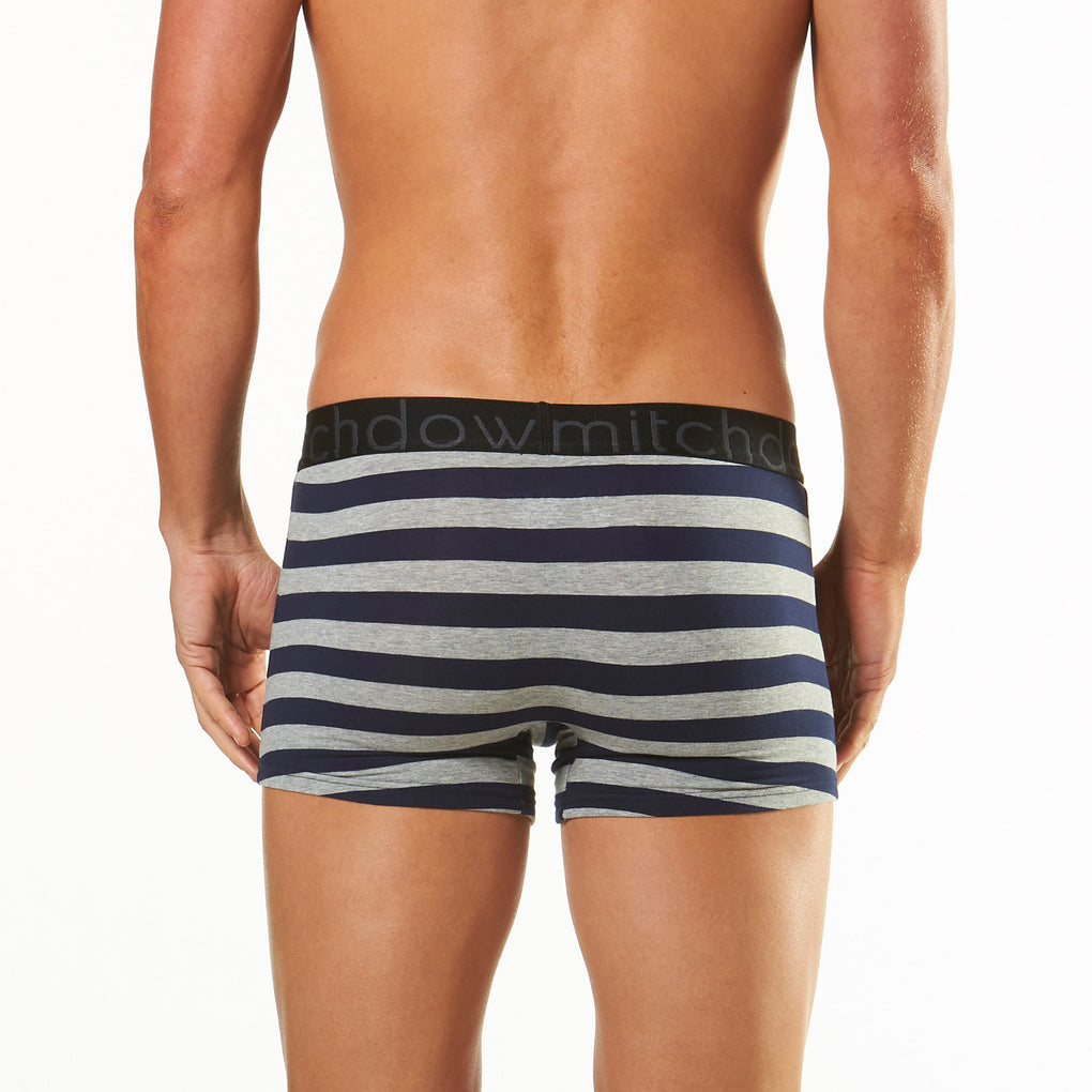 Men's Stripey Fitted Trunks