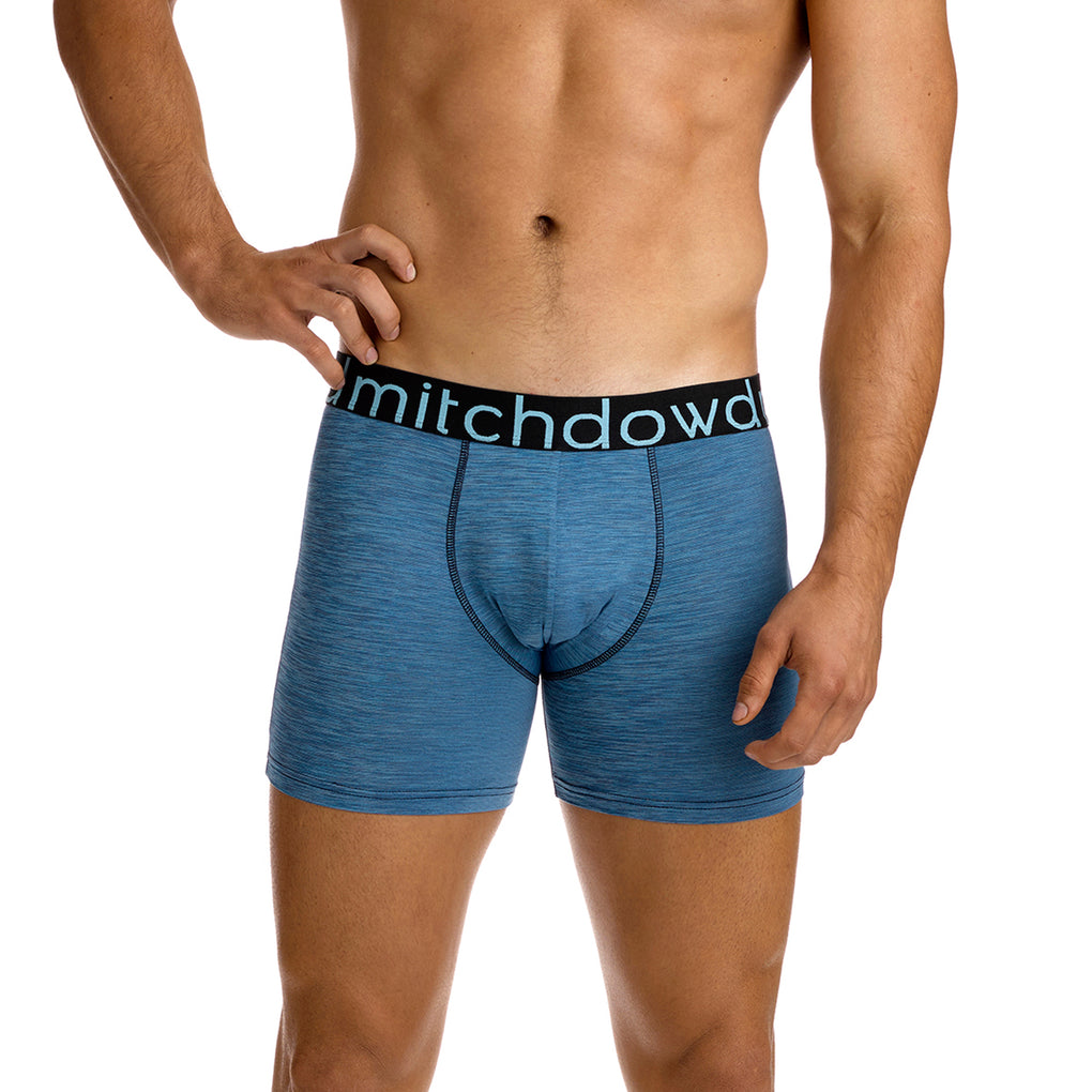 Men's Heather Everyday Active Long Leg Trunk - Blue Marle