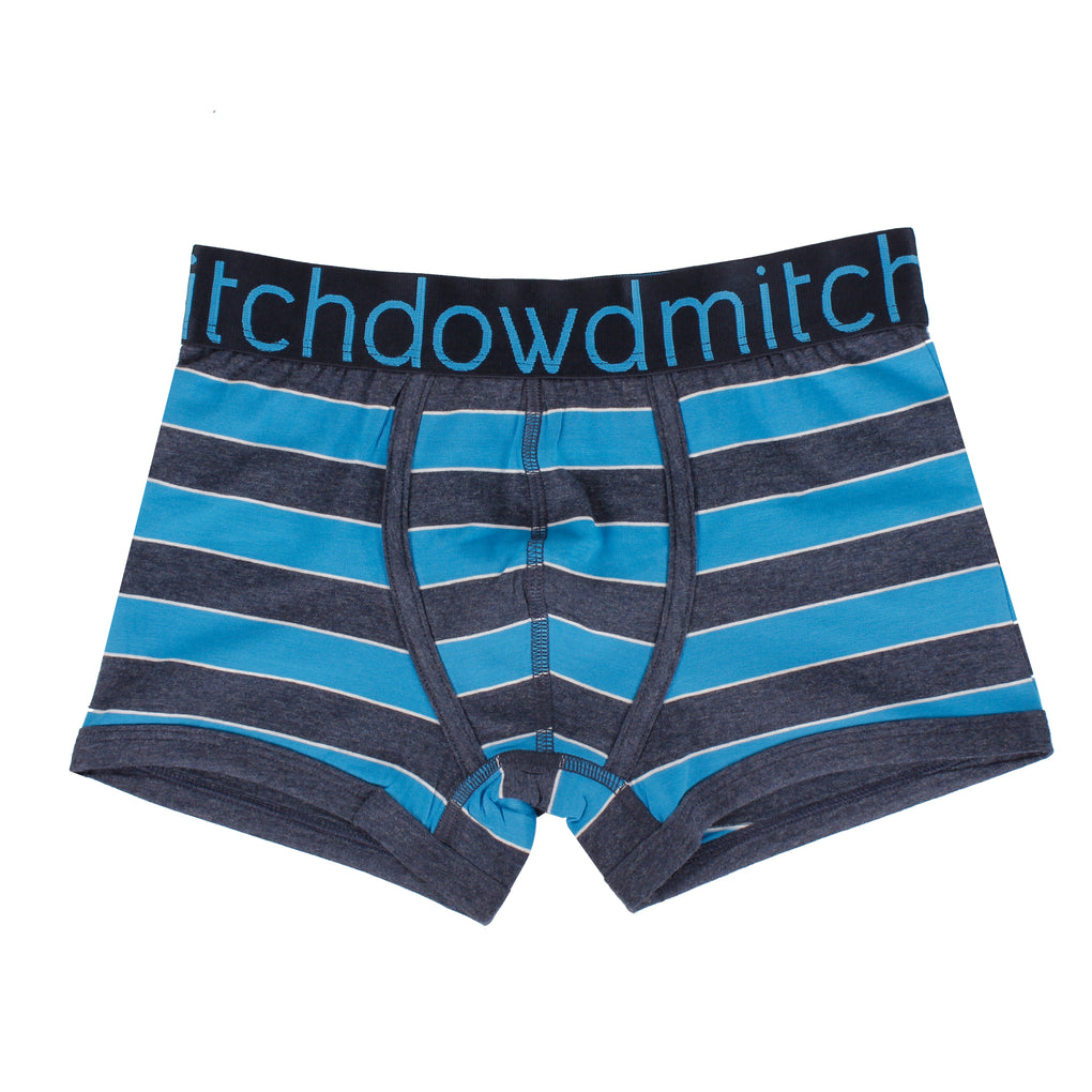 Boy's Stripey Marle Trunks