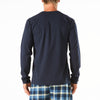 Men's Long Sleeve Henley Pyjama Tee
