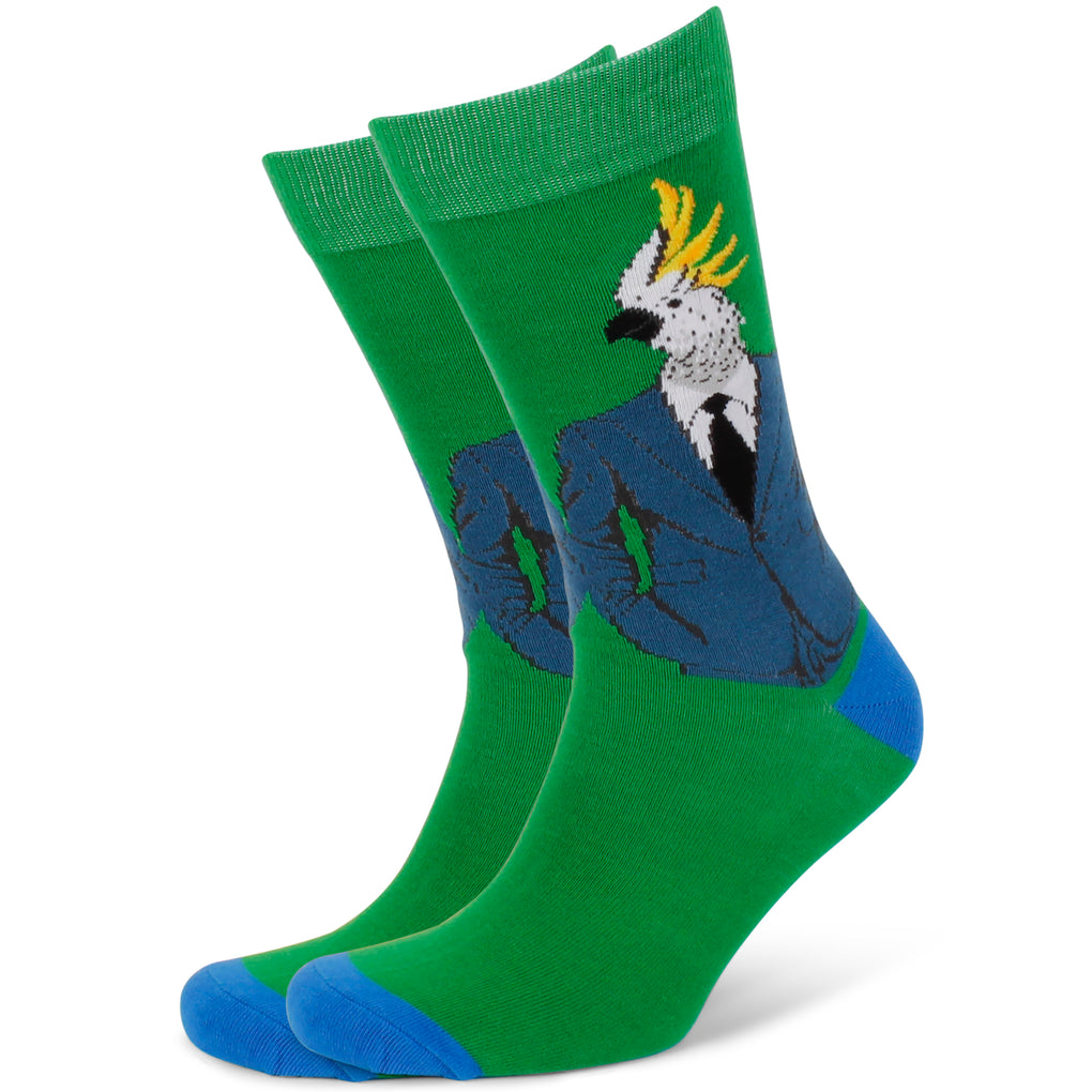 Men's Dressed Up Down Under Cockatoo Socks