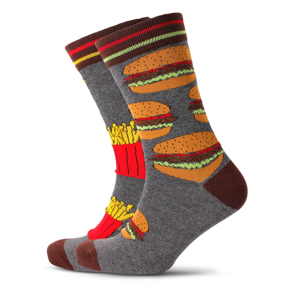 Men's Burgers & Fries Odd Socks