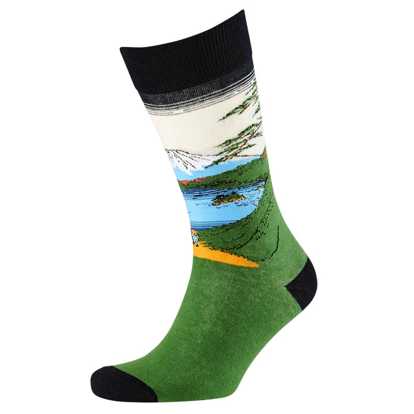 Men's Mount Fuji Jacquard Crew Socks