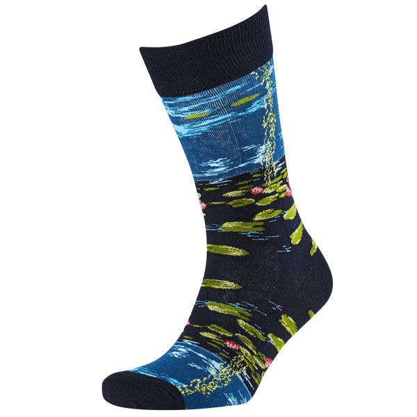 Men's Waterlillies Jacquard Crew Socks
