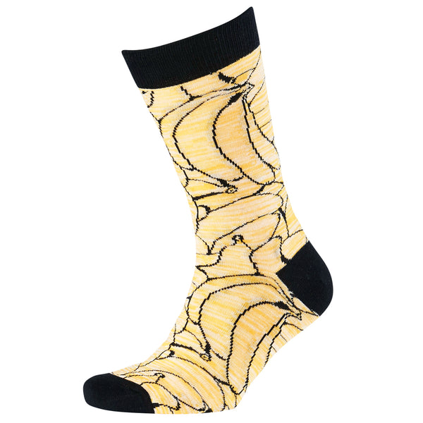 Men's Twisted Bananas Jacquard Crew Socks
