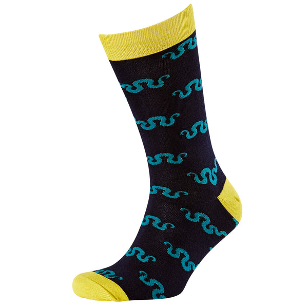 Men's Simple Snake Bamboo Crew Socks