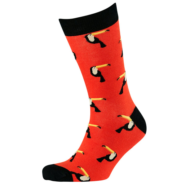 Men's Simple Toucan Bamboo Crew Socks