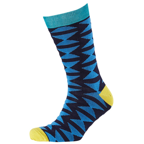 Men's Hourglass Geo Bamboo Crew Socks