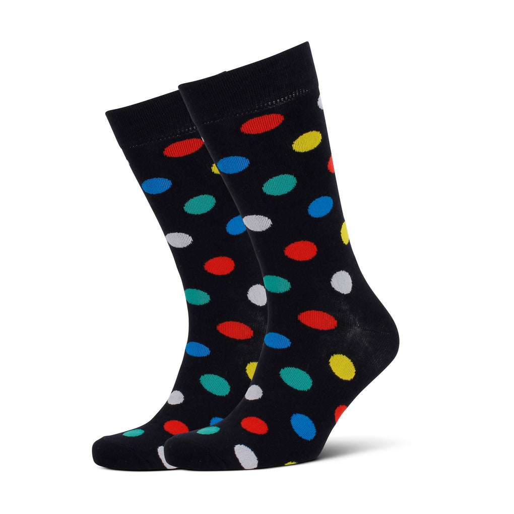 Men's Dots Bamboo Socks - Navy